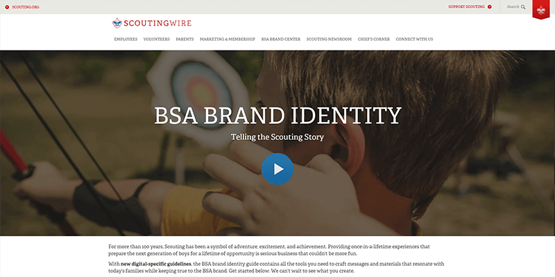 Official BSA colors and logos | 400x800