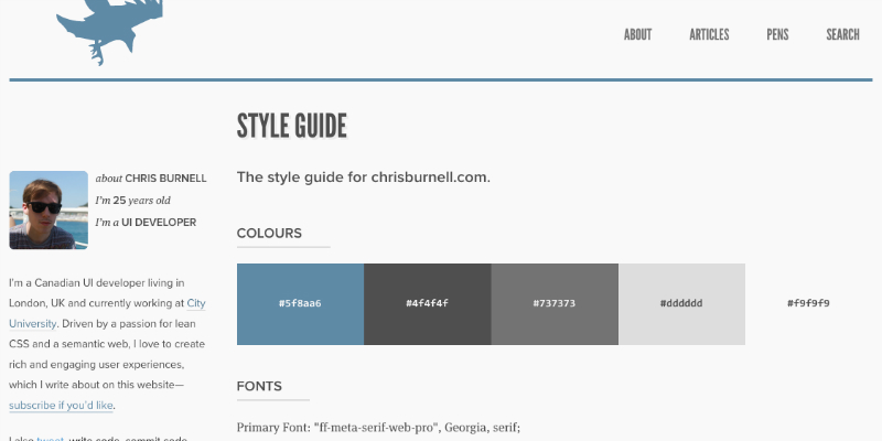 Chris Burnell's Style Guide