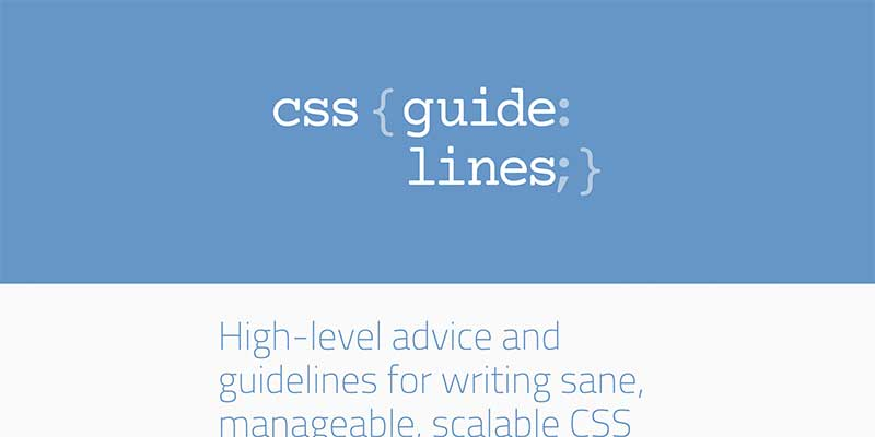 Harry Roberts's CSS Guidelines