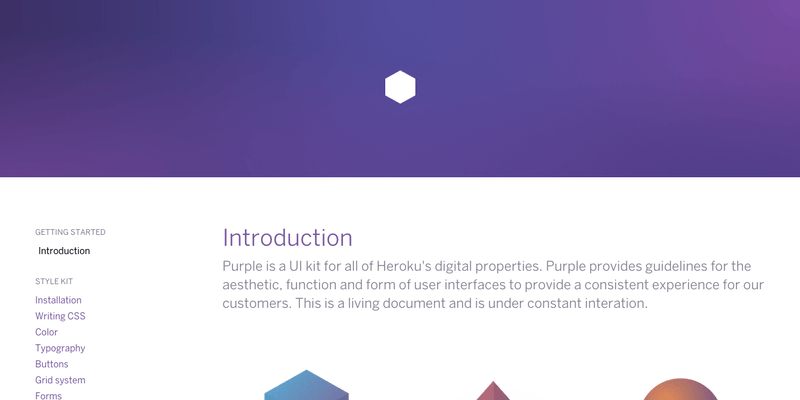 Heroku's Purple UI