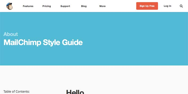 Mailchimp Writing Style Guide