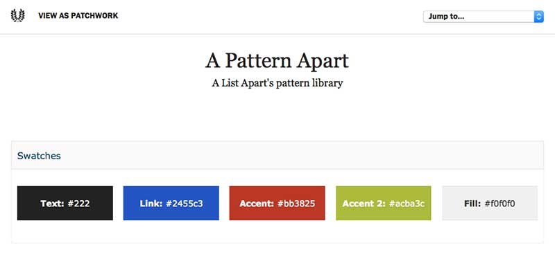A List Apart Pattern Library
