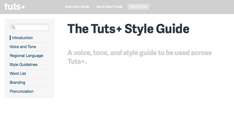 Tuts+ Style Guide