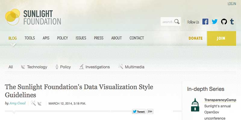 Data Visualization Style Guide for the Sunlight Foundation
