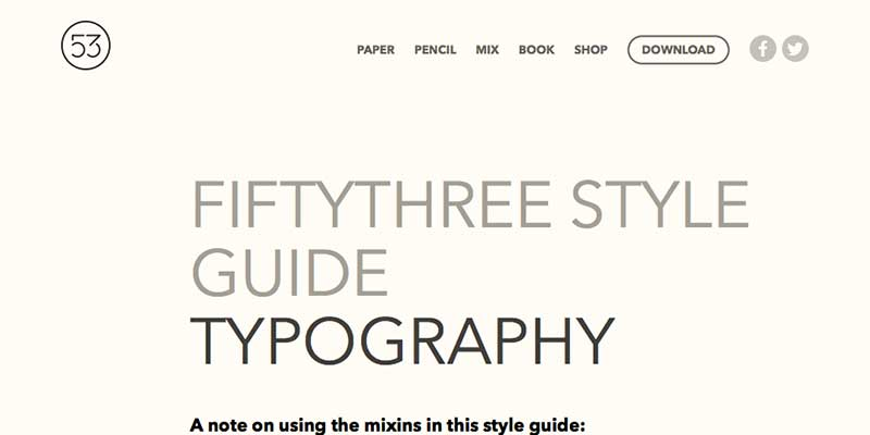 Fifty-Three Website Typography