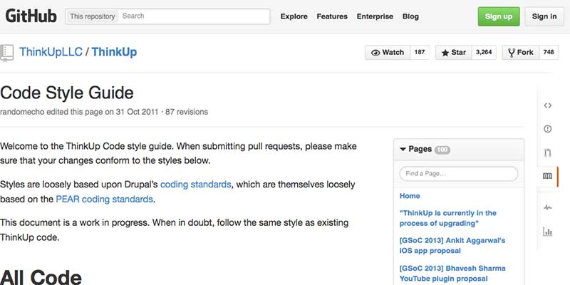 ThinkUp Code style guide