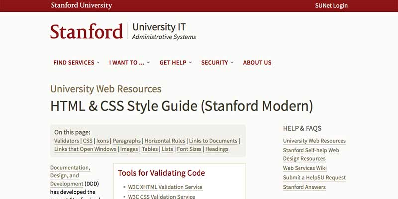 Stanford HTML & CSS Style Guide