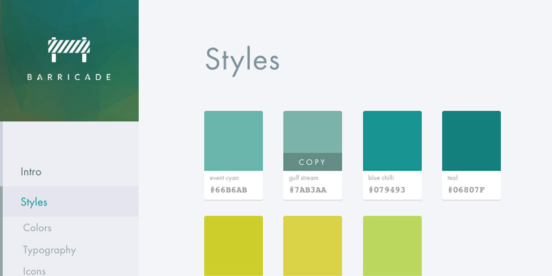 visual style guide template.html