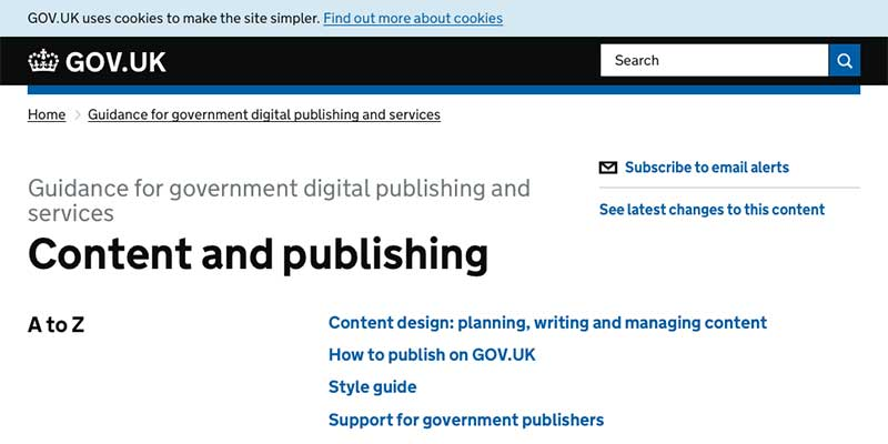 GOV.UK's Content style guide