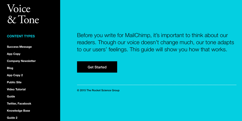 Mailchimp's Voice and Tone