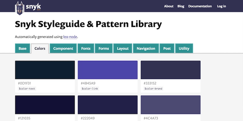 Snyk Styleguide and Pattern Library