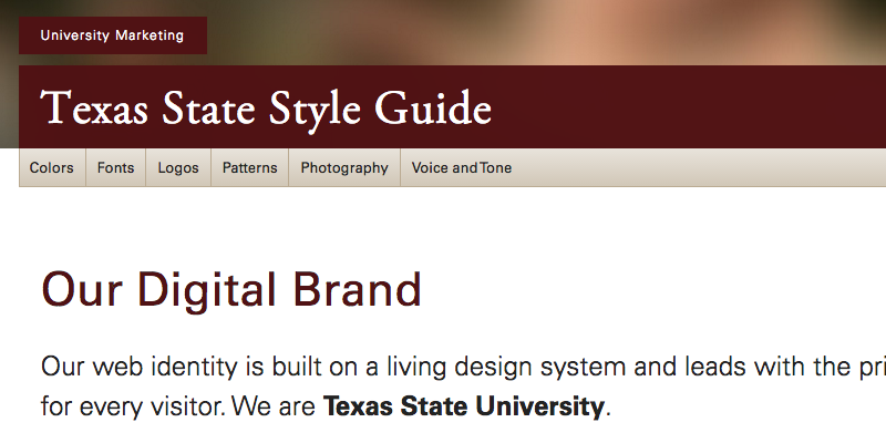 Texas State Style Guide