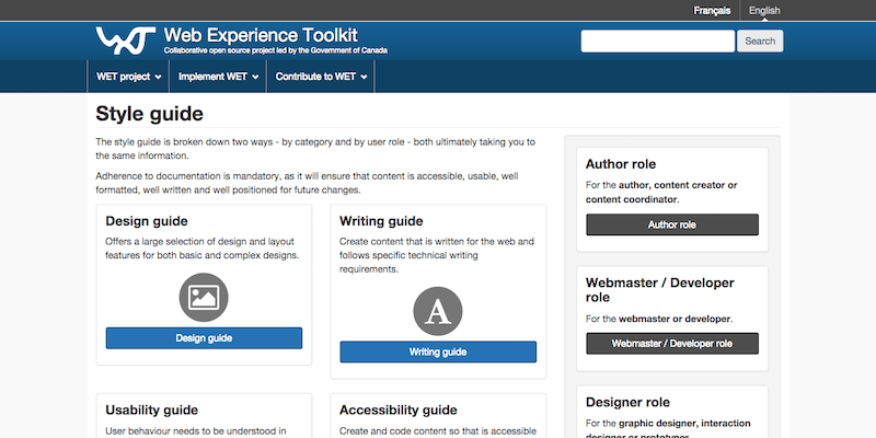 Web Experience Toolkit